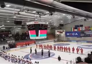 Конфуз недели: на хоккейном турнире вместо гимна Белоруссии поставили ретрохит (видео)
