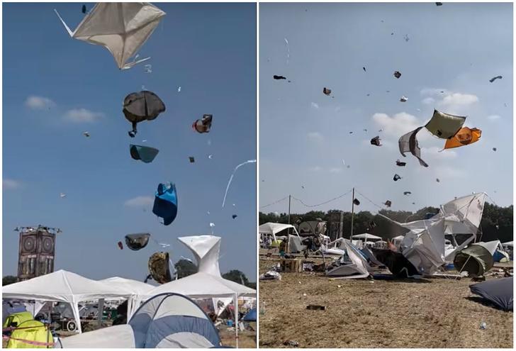 Фото №1 - Мини-торнадо кружит палатки в воздухе! Потрясающе живописное ВИДЕО