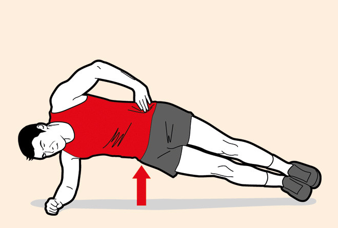 Боковая стойка на предплечье (атлет)