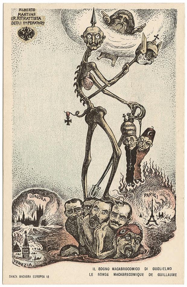 Фото №34 - Жутковатые карикатуры Первой мировой