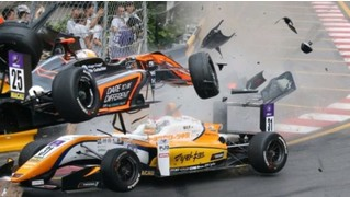 Жесткая авария на Гран-при «Формулы-3» в Макао (видео)
