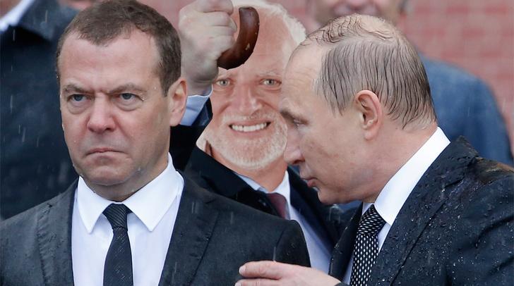 Фото №12 - Избранные шутки о грустном Медведеве под дождем